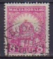 UNGHERIA  1928 SERIE ORDINARIA CORONA DI ST.ETIENNE YVERT. 384 USATO VF - Ungheria