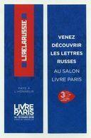 Marque-page - Lire La Russie - Pays à L'honneur - Salon Du Livre De Paris 2018 Porte De Versailles - Marque-Pages