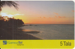 SAMOA - Beach At Sunset, SamoaTel Telecard, First Issue $5, Tirage 50000, 12/03, Used - Samoa