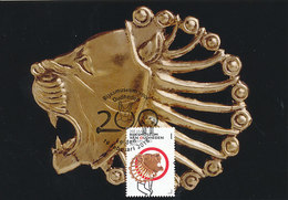 D33215 CARTE MAXIMUM CARD FD 2018 NETHERLANDS - LION'S HEAD PERSIAN GOLD 5th And 4th Century B.C. CP ORIGINAL - Archaeology