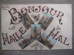 Cpa Hal Halle - Bonjour De Hal - Multi-vues - Marcovici Bruxelles 1927 - Halle