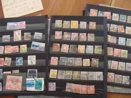 LOT JAPON FIN XIX AUX ANNEES 1970 360 TIMBRES + 23 BLOCS FEUILLETS + 9 LETTRES CARTES VOIR PHOTOS - Japon