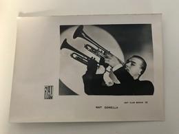 Affichette (18 X 13 Cm) NAT Gonella Hot Club Séries 57 - Singers & Musicians