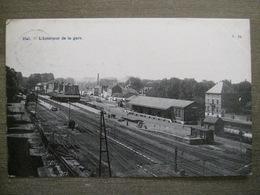 Cpa Hal Halle - L'intérieur De La Gare - Station - N°24 - Halle