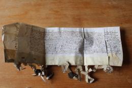 2 Parchemins 1540  AHIN Belgique   Avec Cachets - Manuscripts
