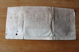 1599  Parchemin    Vezet  Vieux François Autographe - Manuscripts