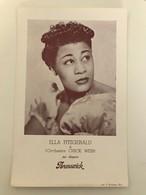Affichette 29 (18 X 13 Cm) Ella FITZGERALD Et L'Orchestre CHICK WEBB Sur Disques Brunswick - Singers & Musicians