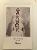 Affichette 29 (18 X 13 Cm) Mills BROTHERS Sur Disques Brunswick - Singers & Musicians