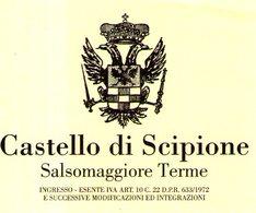 B 1778 - Biglietto D'ingresso, Castello Scipione, Salsomaggiore, Parma - Biglietti D'ingresso
