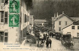 CPA - KICHOMPRé (88) - Touriste Sur Le Départ Devant L'Hôtel De La Vologne En 1909 - Francia