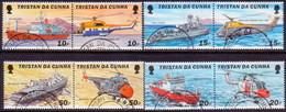 TRISTAN DA CUNHA 2000 SG #688-95 Compl.set In Used Horiz.pairs Helicopters And Ships - Tristan Da Cunha