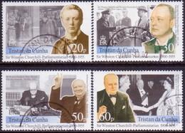 TRISTAN DA CUNHA 2000 SG #696-99 Compl.set Used Centanery Of Sir W.S.Churchill - Tristan Da Cunha