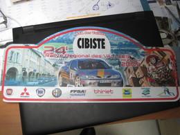 PLAQUE DE RALLYE    24EME RALLYE REGIONAL DES VALLEES 2009 - Plaques De Rallye