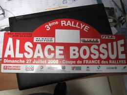 PLAQUE DE RALLYE    ALSACE BOSSUE  2008 - Rallye (Rally) Plates