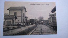 Carte Postale (C8) Ancienne De Montigny Lencoup , La Gare - France