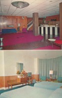 Portland Maine, Portlander 'In-Town' Motel, Lodging Interior View Lobby And Room, C1960s Vintage Postcard - Portland