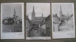 Lot 3 Cpa Ancienne  Alsemberg ( Beersel ) -  Eglise D'Alsemberg - Les Environs De Bruxelles - Beersel