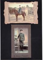 2 X ORIGINAL MILITARY PHOTO 1909  ** MILITAR SECCION ESCOLTA - 3e REGION MILITAR - PARANA ** ARGENTINA ? BRASIL ? - Anciennes (Av. 1900)