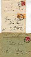Deutsches Reich Kleine Sammlung 3 Briefe Bahnpost Ab 1897 - Deutschland