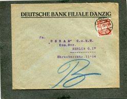Deutsches Reich Danzig Brief 1927 - Danzig