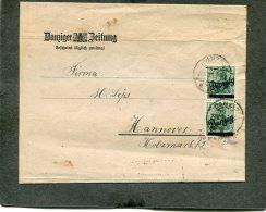Deutsches Reich Danzig Streifband 1909 - Danzig