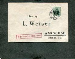 Deutsches Reich Poland  Brief 1915 - Deutschland