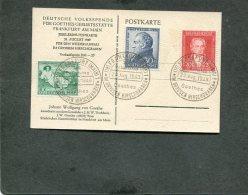 Bundespost Postkarte 1949 Goethe - BRD