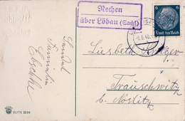 1940 , ALEMANIA , TARJETA POSTAL CIRCULADA , LÖBAU - Alemania