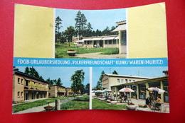 Klink - Waren Müritz - FDGB-Urlaubersiedlung Völkerfreundschaft - AK DDR 1964 - Bungalows Bettenhäuser - Waren (Mueritz)