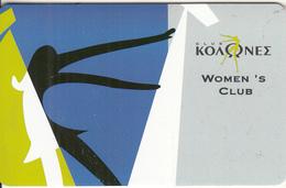 "GREECE - Colones Women""s Club, Member Card, Sample - Unclassified"