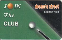 "GREECE - Dream""s Street Biliard Club, Member Card, Sample - Unclassified"