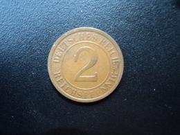 ALLEMAGNE : 2 REICHSPFENNIG  1924 J    KM 38     SUP - 2 Rentenpfennig & 2 Reichspfennig