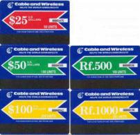 MALDIVES : MLDAUT AUTELCA $25,$50,$100,Rf500,Rf1000 MINT - Maldives
