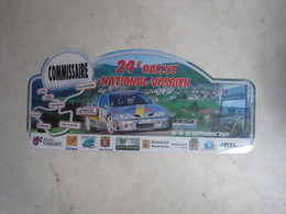 PLAQUE DE RALLYE   24eme  RALLYE NATIONAL VOSGIEN - Plaques De Rallye