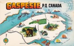 Map Of Gaspesie Quebec Canada