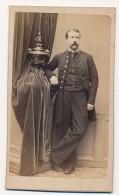 Photo CDV Portrait D'un Homme De Plein Pied Circa 1880 Photographie PERIN & SCHAHL Nancy - Photographs