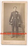 Photo Ancienne CDV Portrait D'un Officier Décorations Circa 1870 Photographie Malardot Metz - Guerre, Militaire