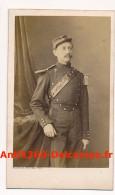 Photo Ancienne CDV Portrait D'un Militaire (De Malherbe Noté Au Dos) Circa 1870 Photographie Bayard Bertall - Guerre, Militaire