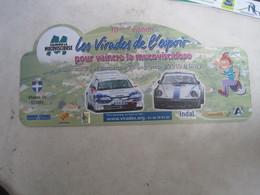 PLAQUE DE RALLYE   LES VIRADES DE L ESPOIR 2010 - Plaques De Rallye