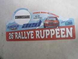 PLAQUE DE RALLYE    26 Eme  RALLYE RUPPEEN - Plaques De Rallye