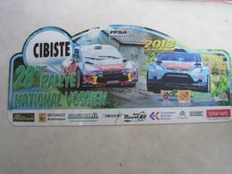 PLAQUE DE RALLYE    28eme  RALLYE NATIONAL VOSGIEN - Plaques De Rallye