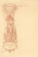 Spijskaart ? Menu ? Champagne Theophile Roederer & Co Reims (18 X 27 Cm) Jugendstil Art Nouveau Leo Hinoré - Menus