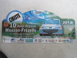 PLAQUE DE RALLYE    10 Eme RALLYE REGIONAL MOUZON FREZELLE - Plaques De Rallye