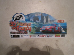 PLAQUE DE RALLYE    35 EME RALLYE DE NANCY  2011 - Rallye (Rally) Plates