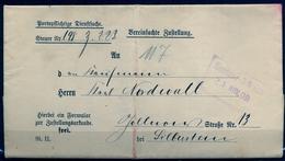 1909 , ALEMANIA , BERLIN , SOBRE CIRCULADO , STEUER - DEPUTATION DES MAGISTRATS - Cartas