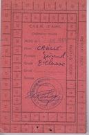 CARTE ALIMENTAIRE POUR UN MILITAIRE DU CISM 3 ALMA - 10 EME REGION - SERVICE  DU MATERIEL - Documentos