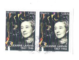 2 Used Stamps On Paper Timbres Oblitérés JEANNE LANVIN 1867-1946 FRANCE 2017 - Frankreich