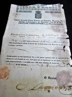PORTUGAL 1840 Carta De Saude Do DIRECTOR D'ALFANDEGA DE SETUBAL -Navio Em Viagem - Na Volta Certificacao Consul Uruguay - Historical Documents