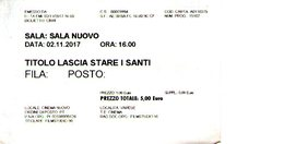 B 1780 - Biglietto D'ingresso, Cinema Nuovo, Varese - Biglietti D'ingresso