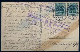 1915 , ALEMANIA , GEBWEILER - BASILEA , TARJETA POSTAL CIRCULADA , CENSURA - MÜLHAUSEN - Cartas